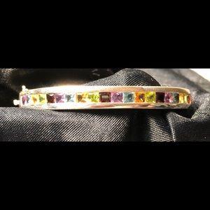 Jewelry - Multiple semi precious gemstone sterling silver